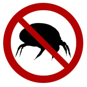 Graphic if Killing Dust Mites Symbol