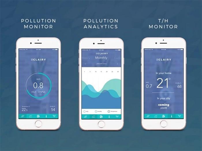 Graphic of Clairy Smartphone App