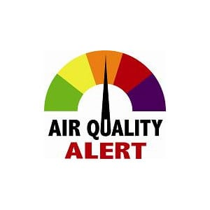 Graphic of Air Quality Alert Levels
