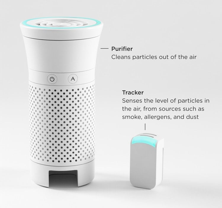 Wynd Air Purifier and Tracker