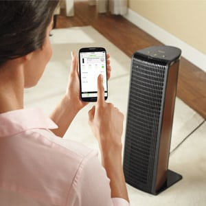 Photo of Woman with Smart Air Purifier