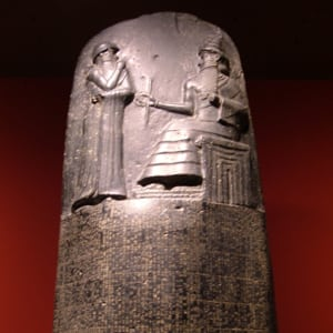 Photo of the Code of Hammurabi