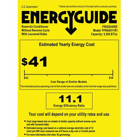 Photo of Energy Guide with EER