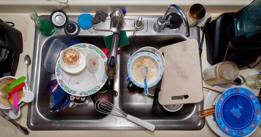 Photo of Dirty Kitchen Sink