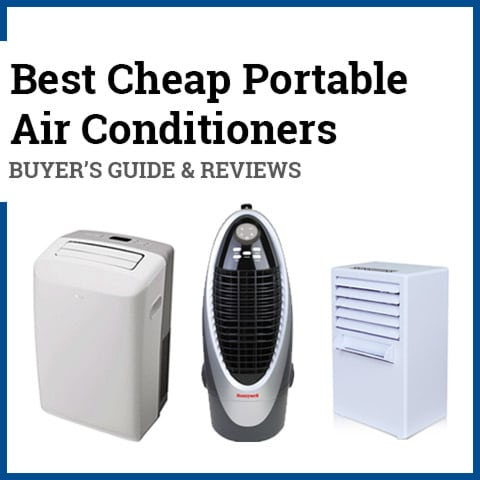 Graphic of Buyers Guide for Cheap Portable Air Conditioners