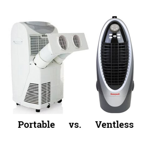 Photo Showing Portable Versus Ventless Design