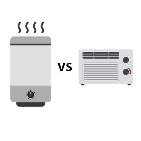 Graphic of air purifier vs air conditioner