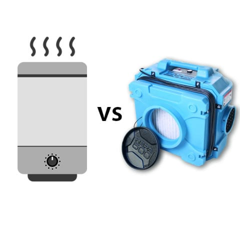 Graphic of air purifier vs air scrubber
