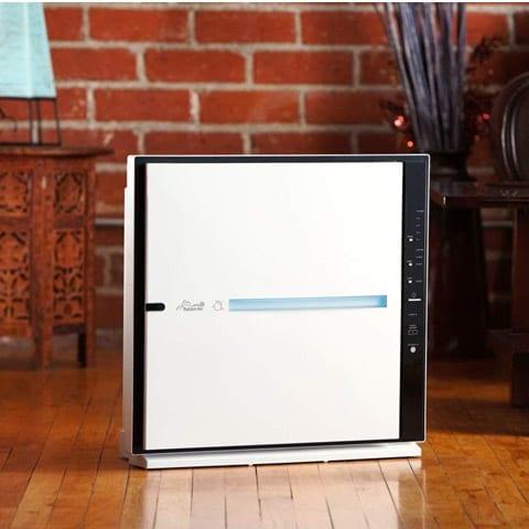 Photo of an air purifier in an apartment