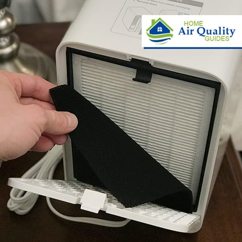 Showing the air filter compartment