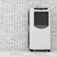 Photo of Portable Air Conditioner Against a Wall