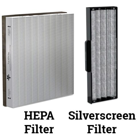 Photo of HEPA and Silverscreen Filters