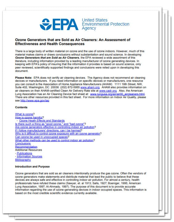 Ionizer Air Purifier Report
