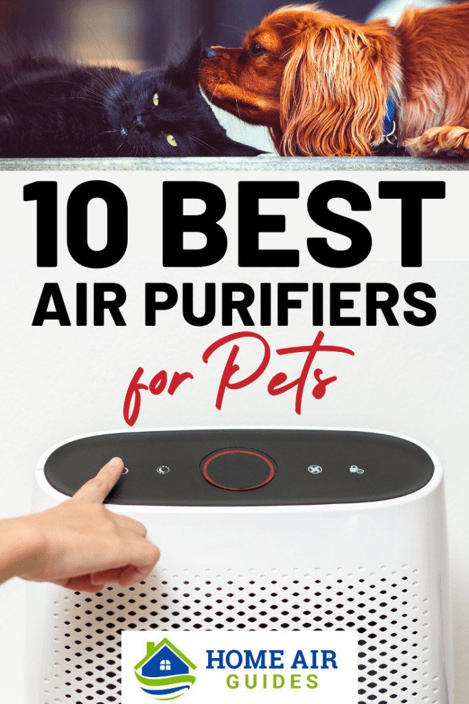 10 Best Air Purifiers for Pet Owners: Pinnable image by Home Air Guides