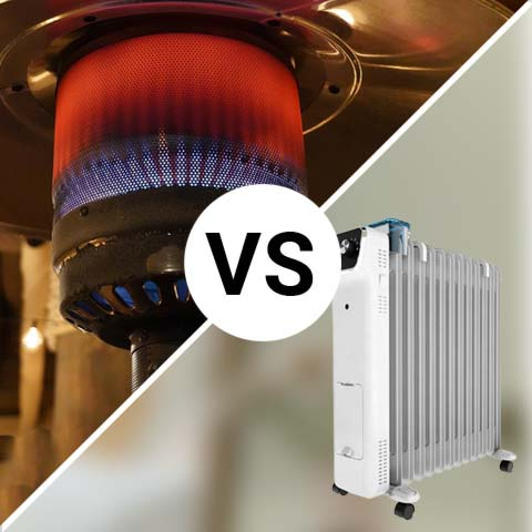 Gas heater vs oil heater