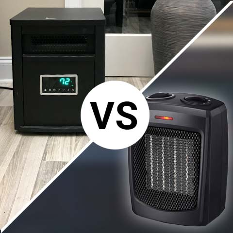 Infrared heater vs ceramic heater