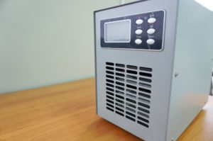 Ozone generators placed on the table in office room