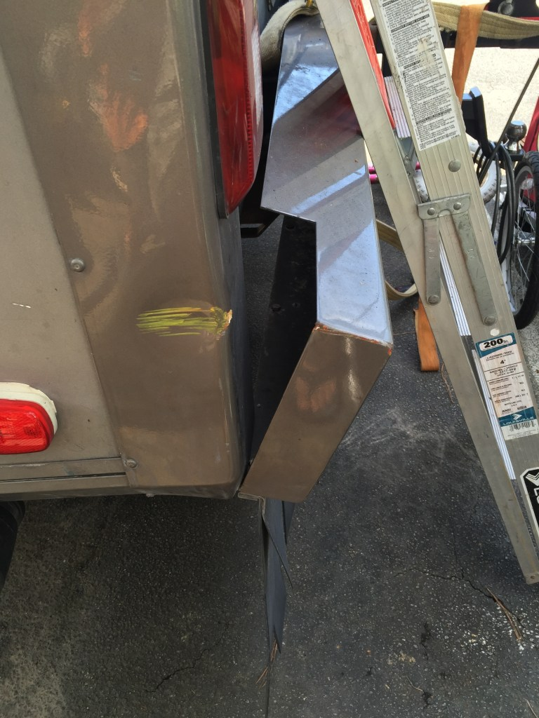 Picture taken later (thus the ladder leaning on the back of Gracie) this is what the bumper used to look like: http://homealongtheway.com/wp-content/uploads/2015/09/IMG_2703.jpg