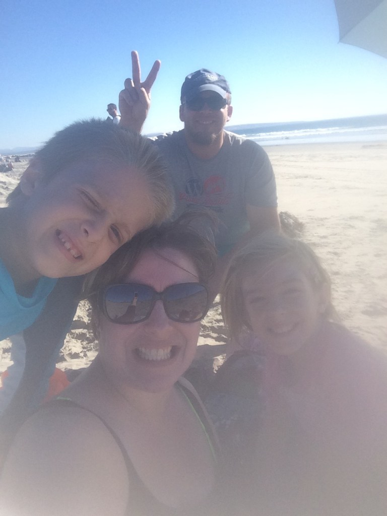 Beach family shot