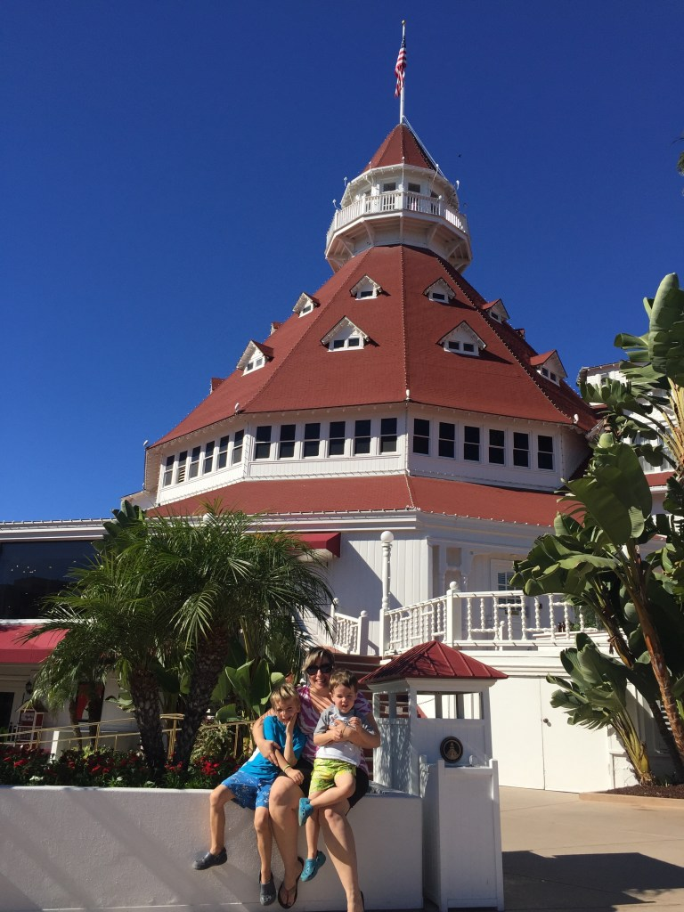 Hotel Del Coronado and the boys