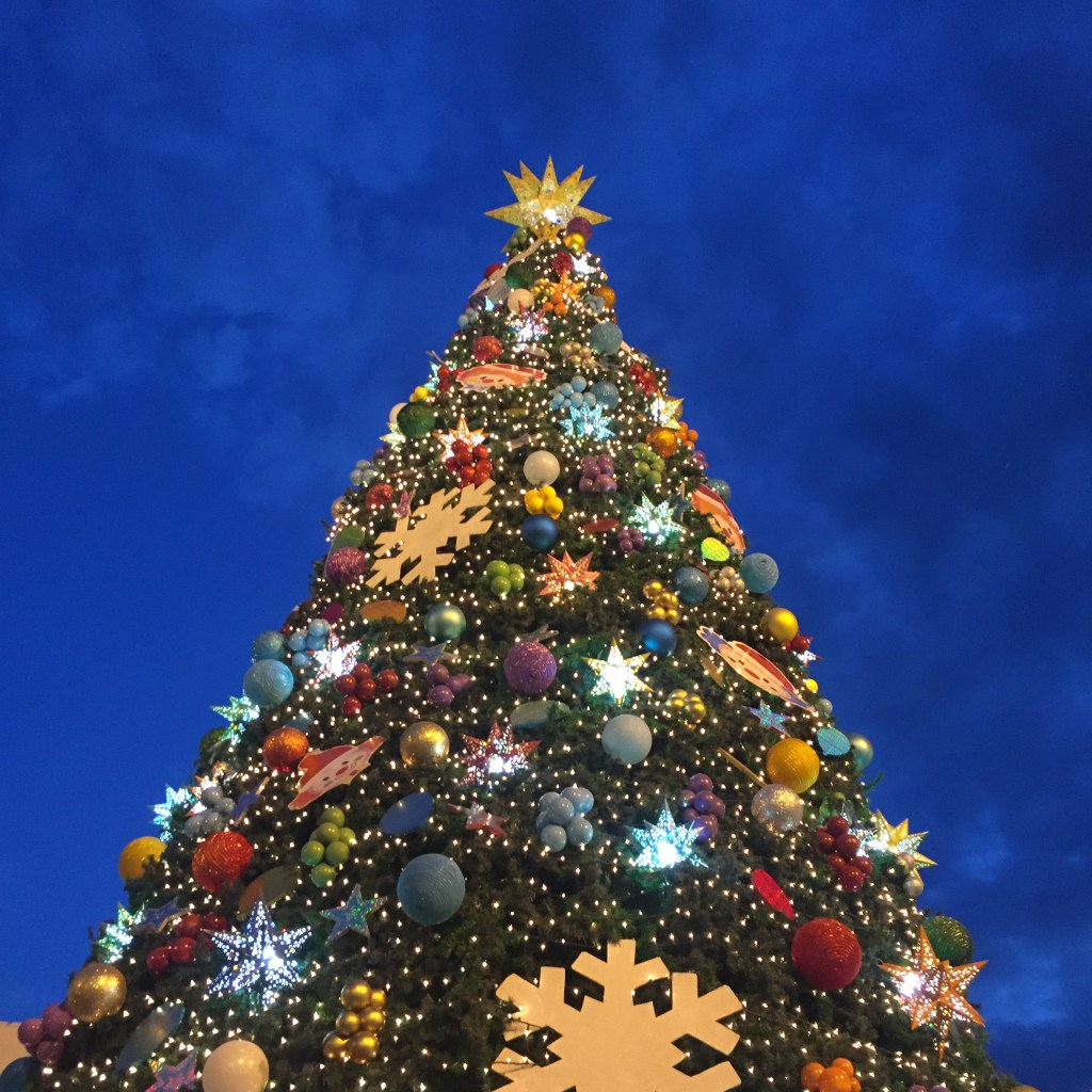 A Christmas tree in the mall here in San Miguel de Allende