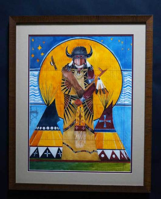 Joe Pulliam Buffalo Dreamer Lakota Ledger Painting