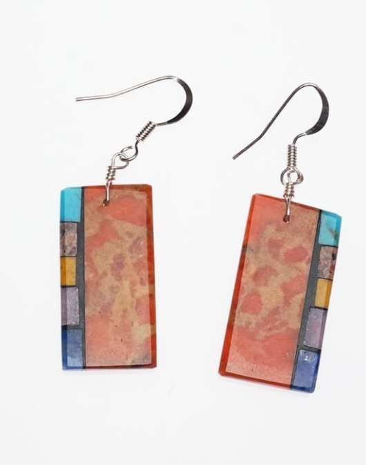 Mary Tafoya Side Inlay Earrings 5