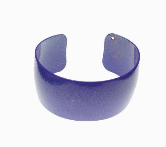 Margaret Jacobs powder coated purple cuff bracelet