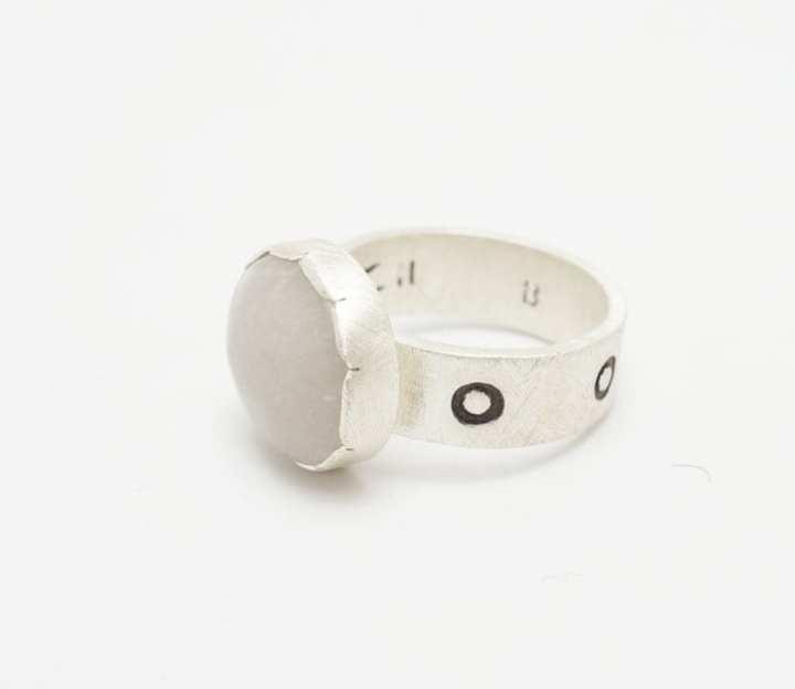 Heidi BigKnife quartz ring
