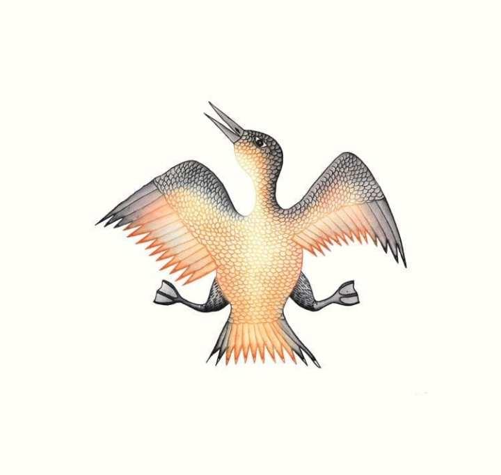 Cee Pootoogook Jubilant Bird