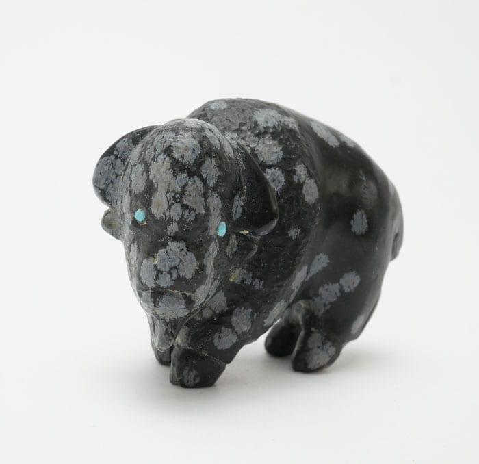 Clive Hustito snowflake obsidian bison