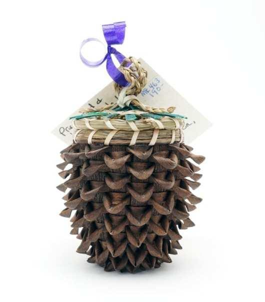 Sue Thompson Miniature Pine Cone Basket