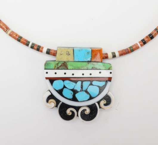 Mary Tafoya mosaic necklace