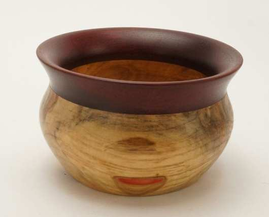 Dewey Owl elder wood-bloodwood bowl