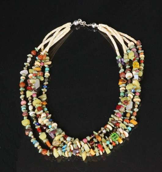 Sabrina Abeyta Multicolored Five Strand necklace