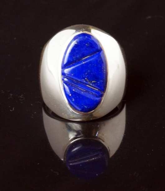 Earl Plummer Inlaid lapis lazuli ring