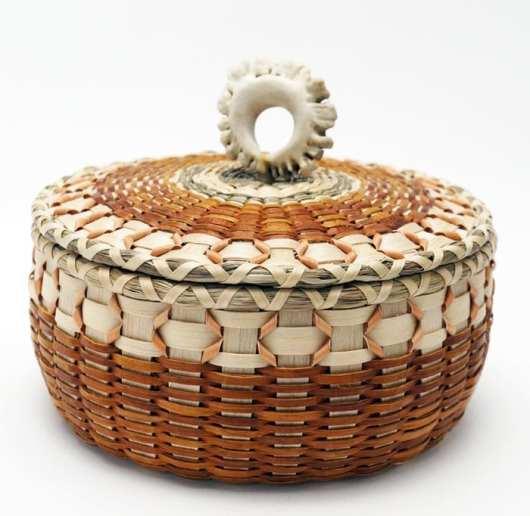 Sarah Sockbeson ash-cedar basket