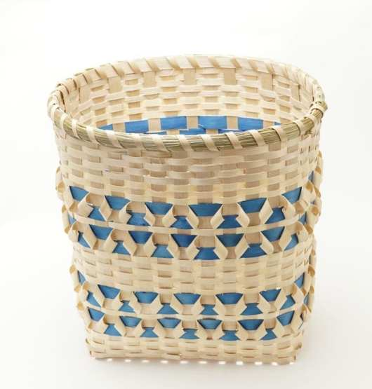 Butch Jacobs natural ash and blue basket