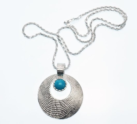Althea Cajero turquoise necklace