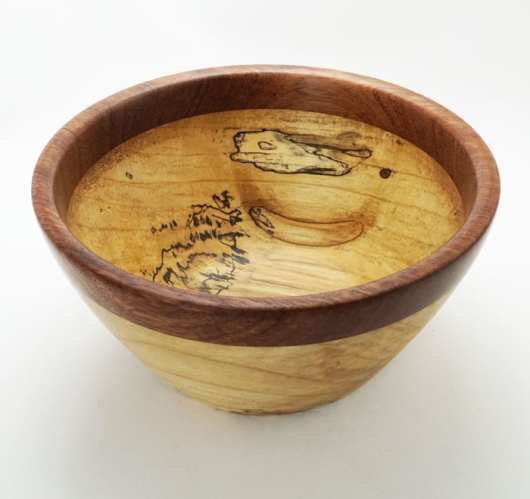 Dewey Owle maple-bubinga bowl