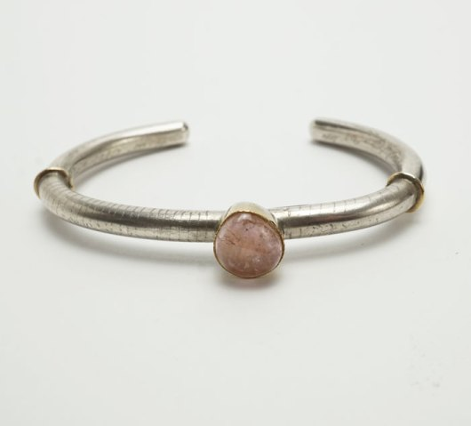Shawn Bluejacket pink tourmaline bracelet