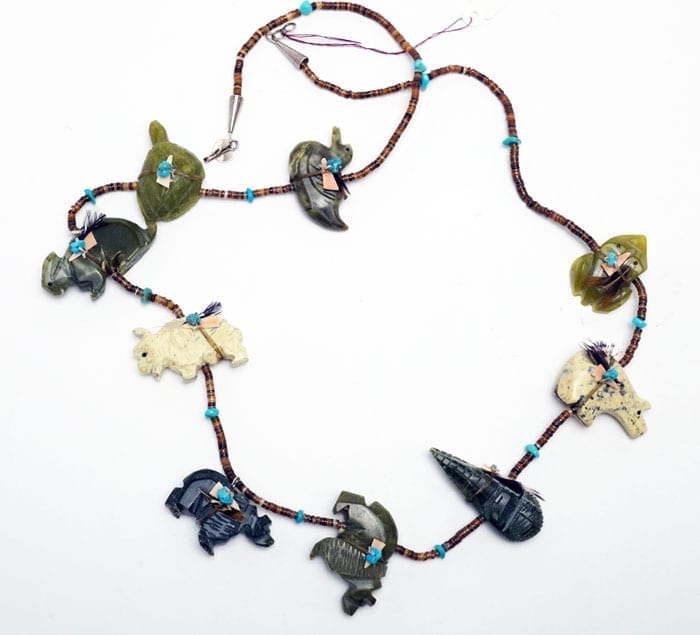 Zuni Animal Fetish Necklace