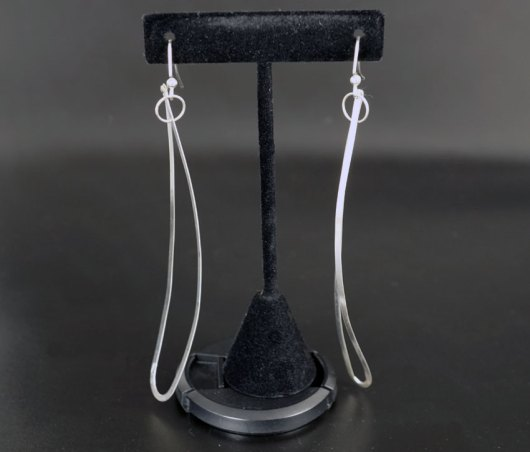 David Gaussoin Sterling Silver Negative Space Earrings