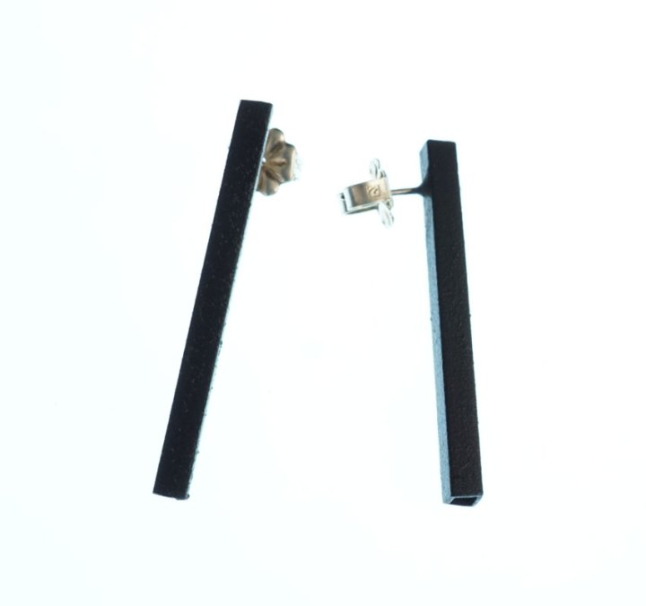 Margaret-Jacobs-Powder-Coated-Square-Tubular-Black-Earrings-NEJ0041-1