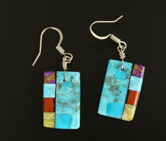 Mary Tafoya Side Mosaic Earrings 5