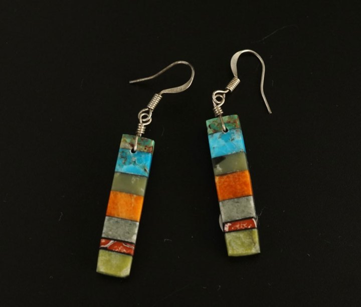 Mary Tafoya Stacked Mosaic Earrings 7