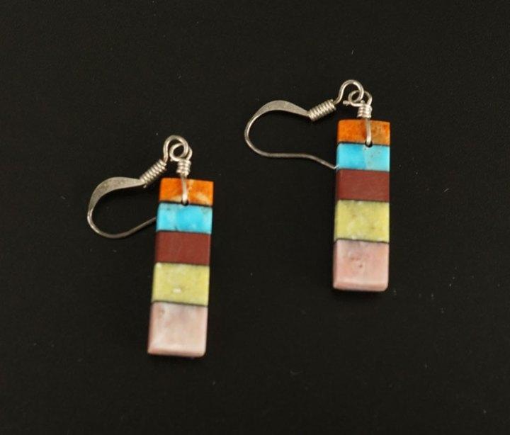 Mary Tafoya Stacked Mosaic Earrings 5