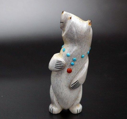Gabe Sice Antler Inlaid Standing Bear 7