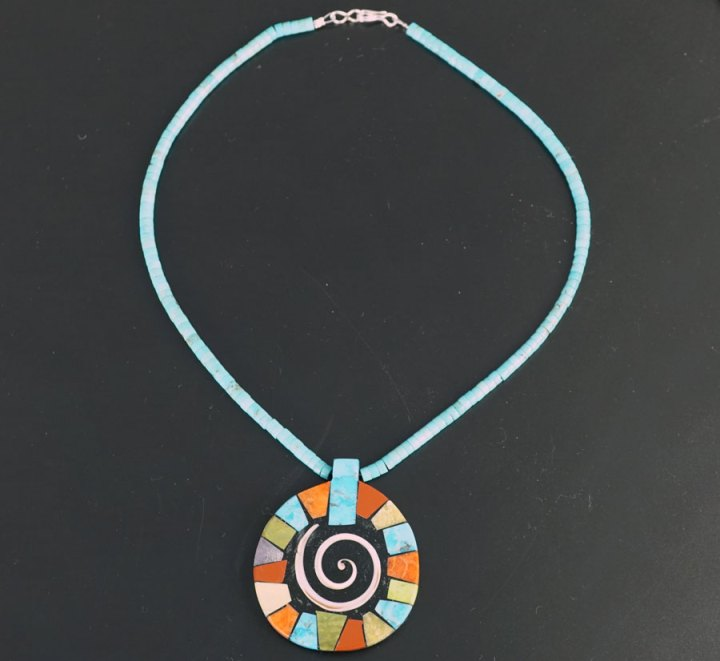 Mary Tafoya Circular Mosaic Necklace