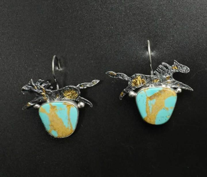 Cheryl Arviso Horse Earrings